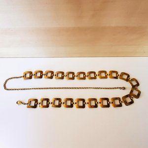 3/30$ 🍂 90s Y2K Gold Tone Waist Hips Chain Belt Metal Squares Vintage